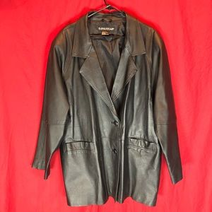 SAVANNAH Leather Blazer Jacket